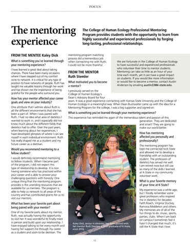 Page 12 of The mentoring experience