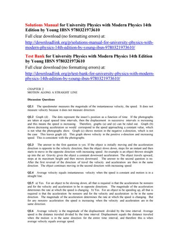 solutions manual for university physics with modern physics 14th rh issuu com Velocity Physics Solution Science
