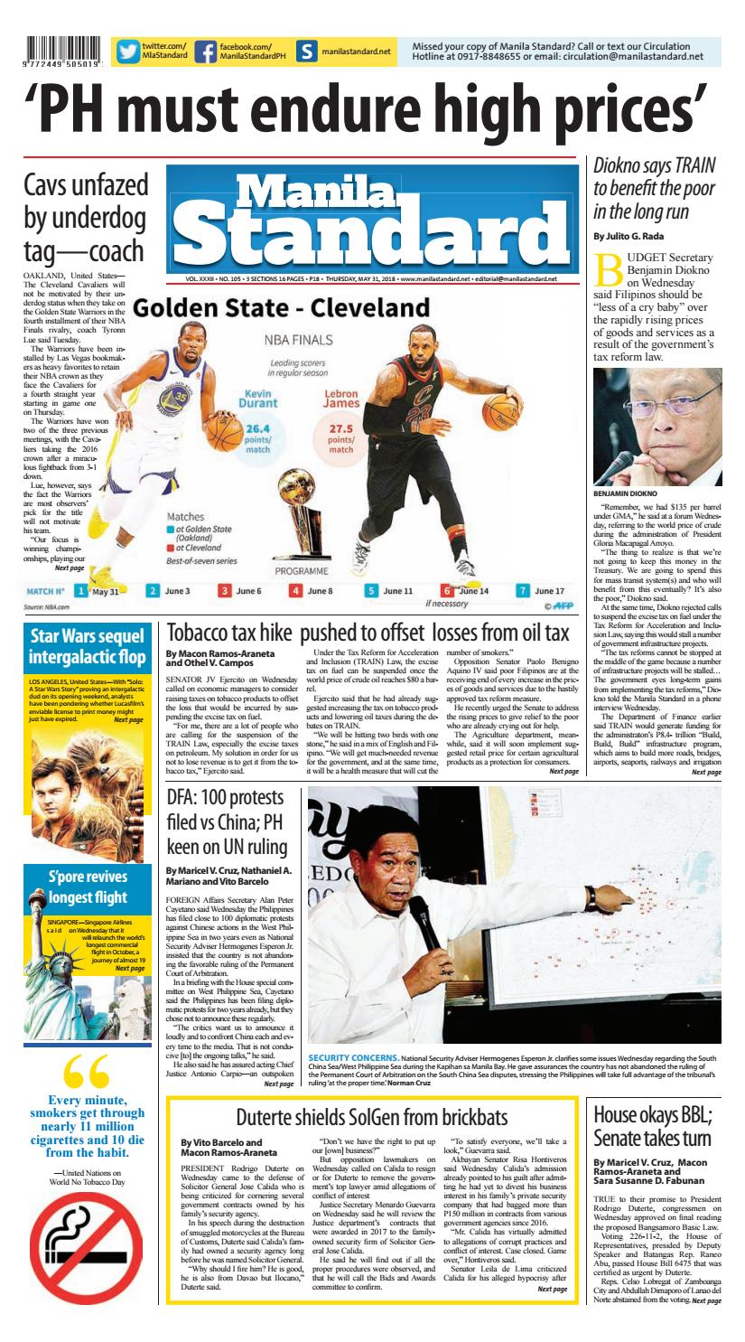 Manila Standard 2018 May 31 Thursday By Issuu Faulty Circuit Breaker Blamed For Outage At Nationals Park Fox