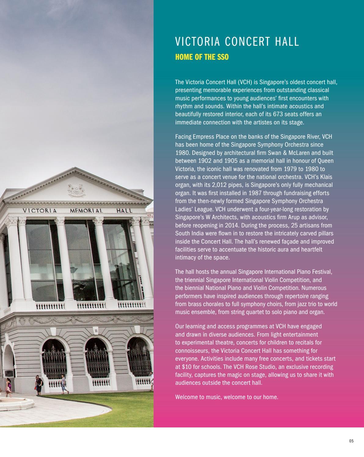 VCH Home of the SSO 2018/19 Season Brochure by Singapore Symphony