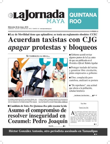 La jornada maya · miércoles 30 de mayo de 2018 by La Jornada Maya ... 6c1fe2d67d417