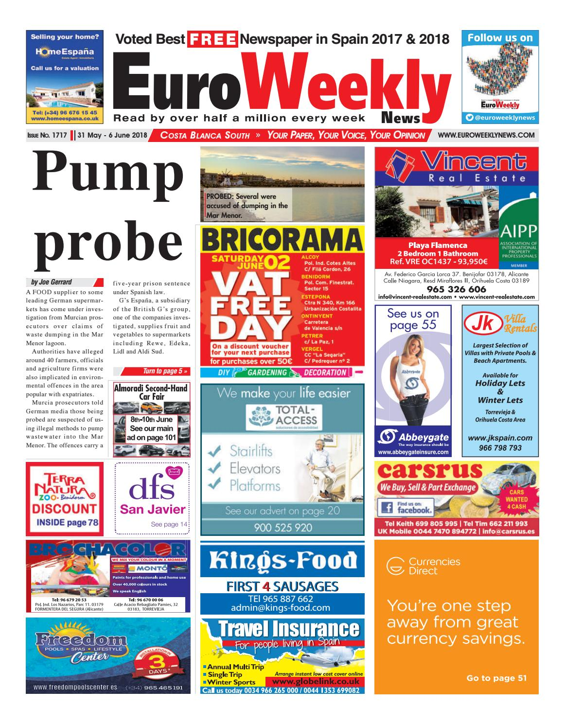 86481c16b8 Euro Weekly News - Costa Blanca South 31 May - 6 June 2018 Issue 1717 by  Euro Weekly News Media S.A. - issuu