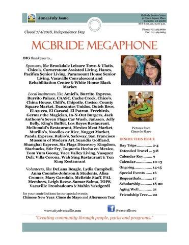McBride Megaphone - June-July 2018 by cityofvacaville - issuu