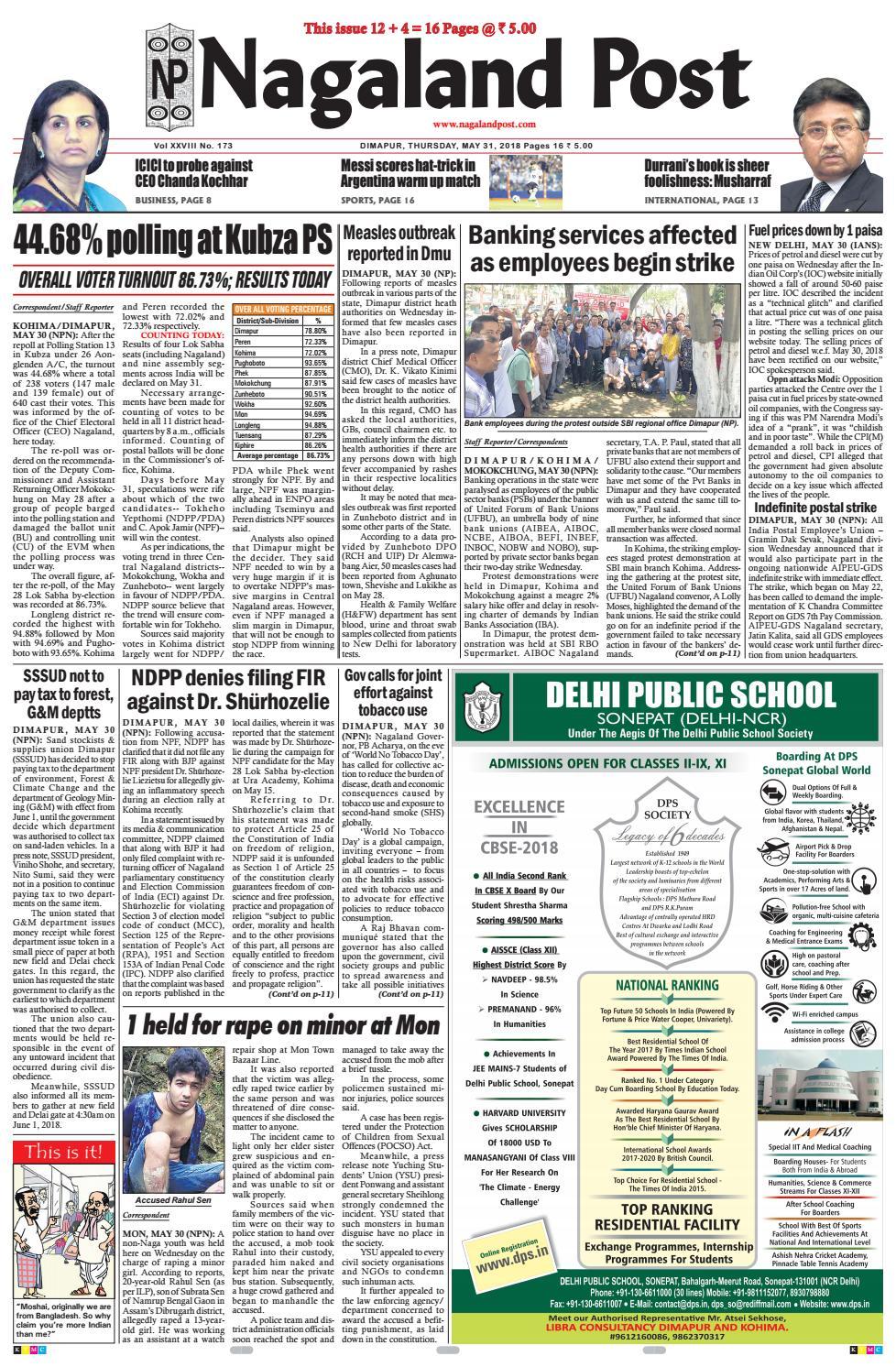 May 31, 2018 by Nagaland Post - issuu
