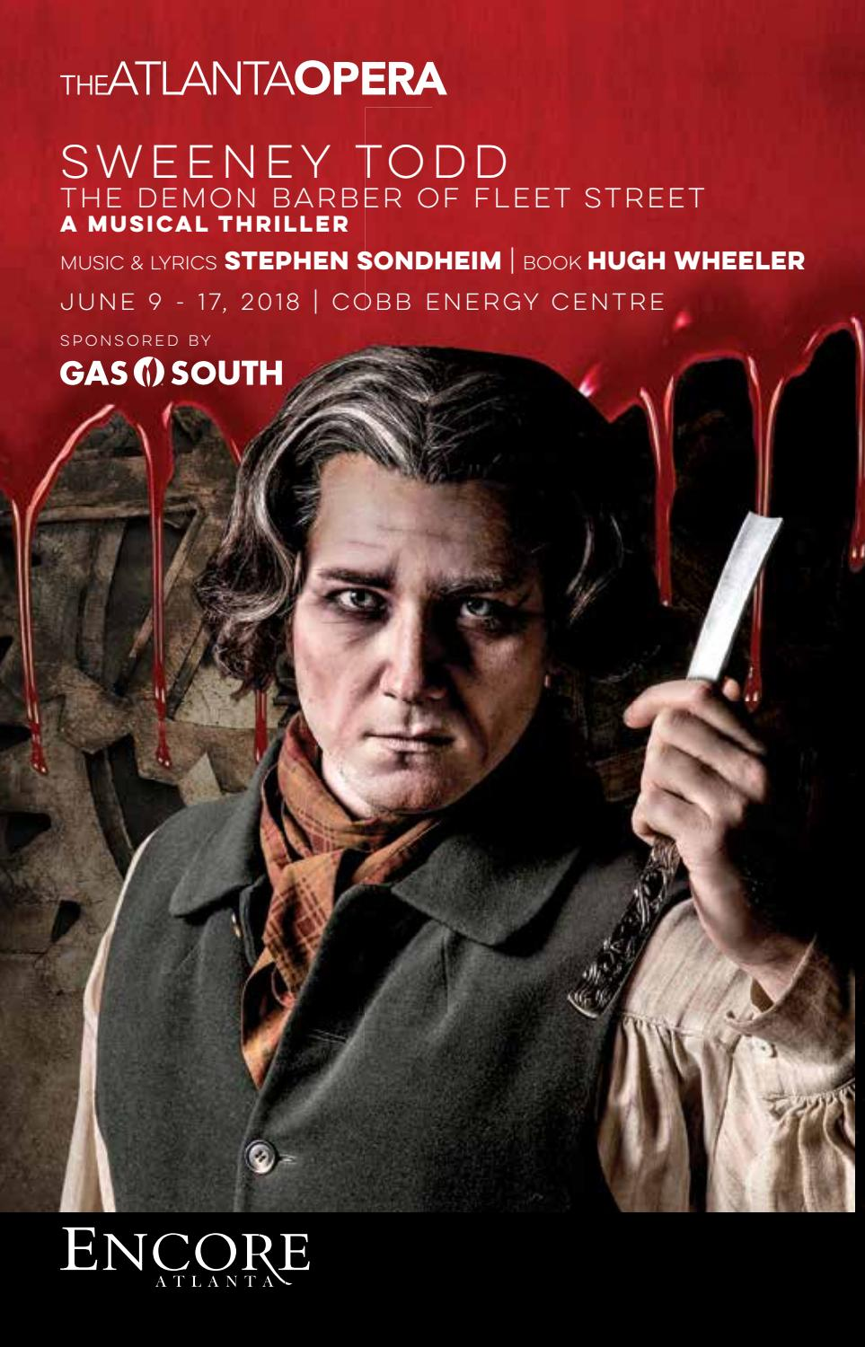 Sweeney Todd At The Atlanta Opera By Encore Atlanta Issuu