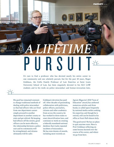 Page 17 of Faculty View: A Lifetime Pursuit