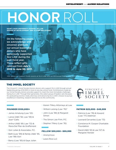 Page 19 of Donor Honor Roll