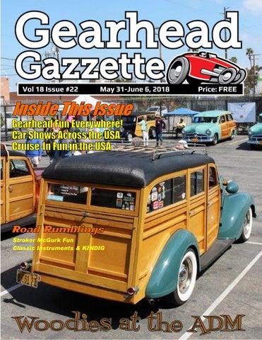 Gearhead Gazzette Vol 18 Issue #22 May 31-June 6, 2018 by Jimmy B