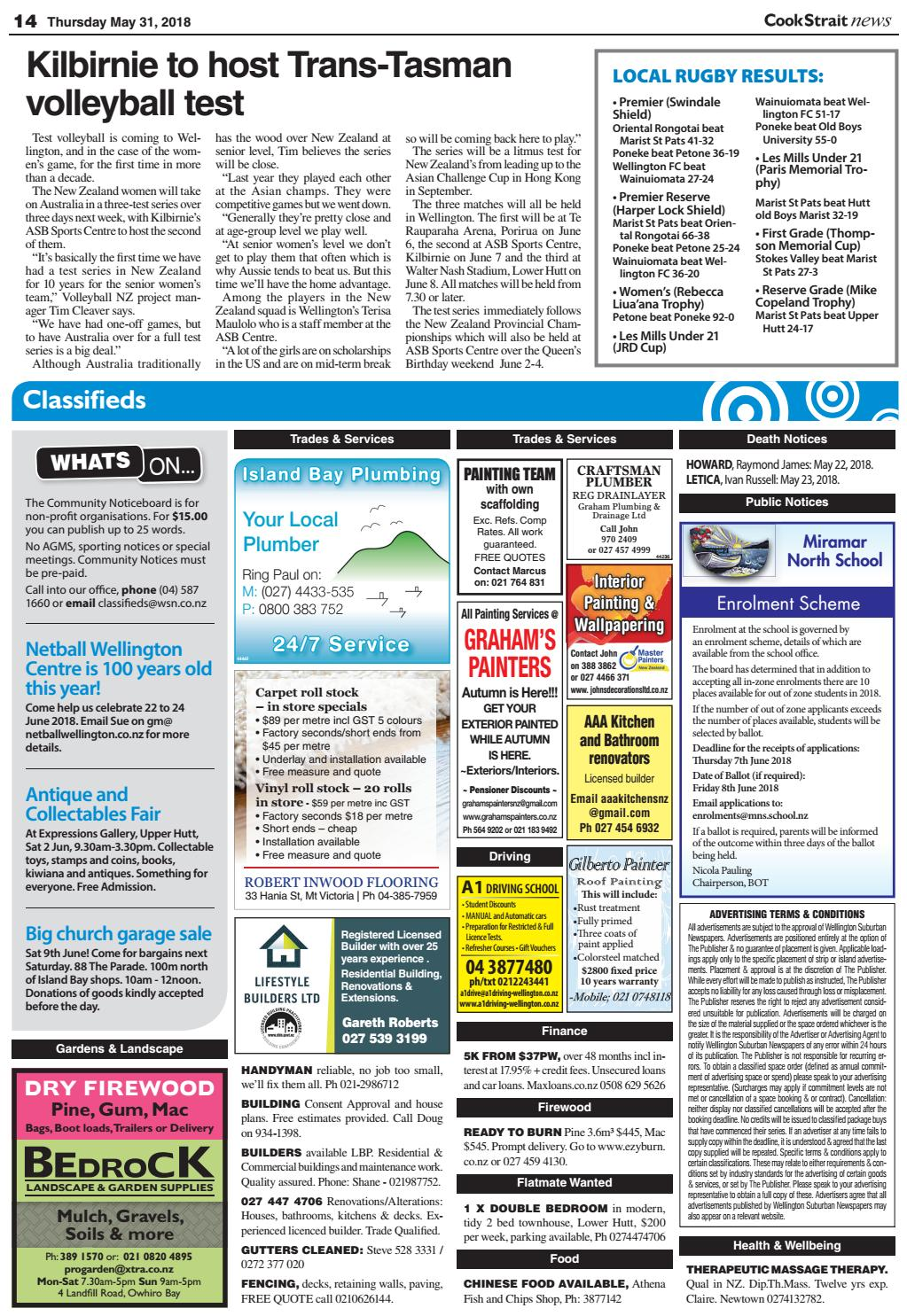 cook strait news 31-05-18local newspapers - issuu