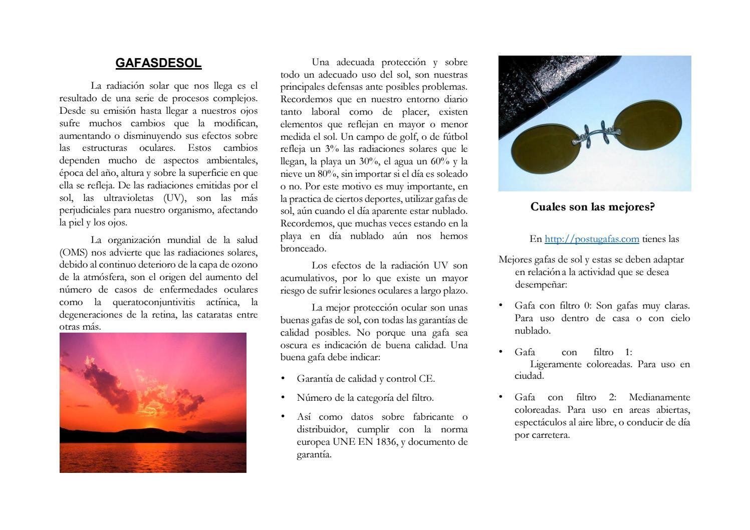 Las By Postugafas Gafas De Sol Issuu 7fb6Ygy