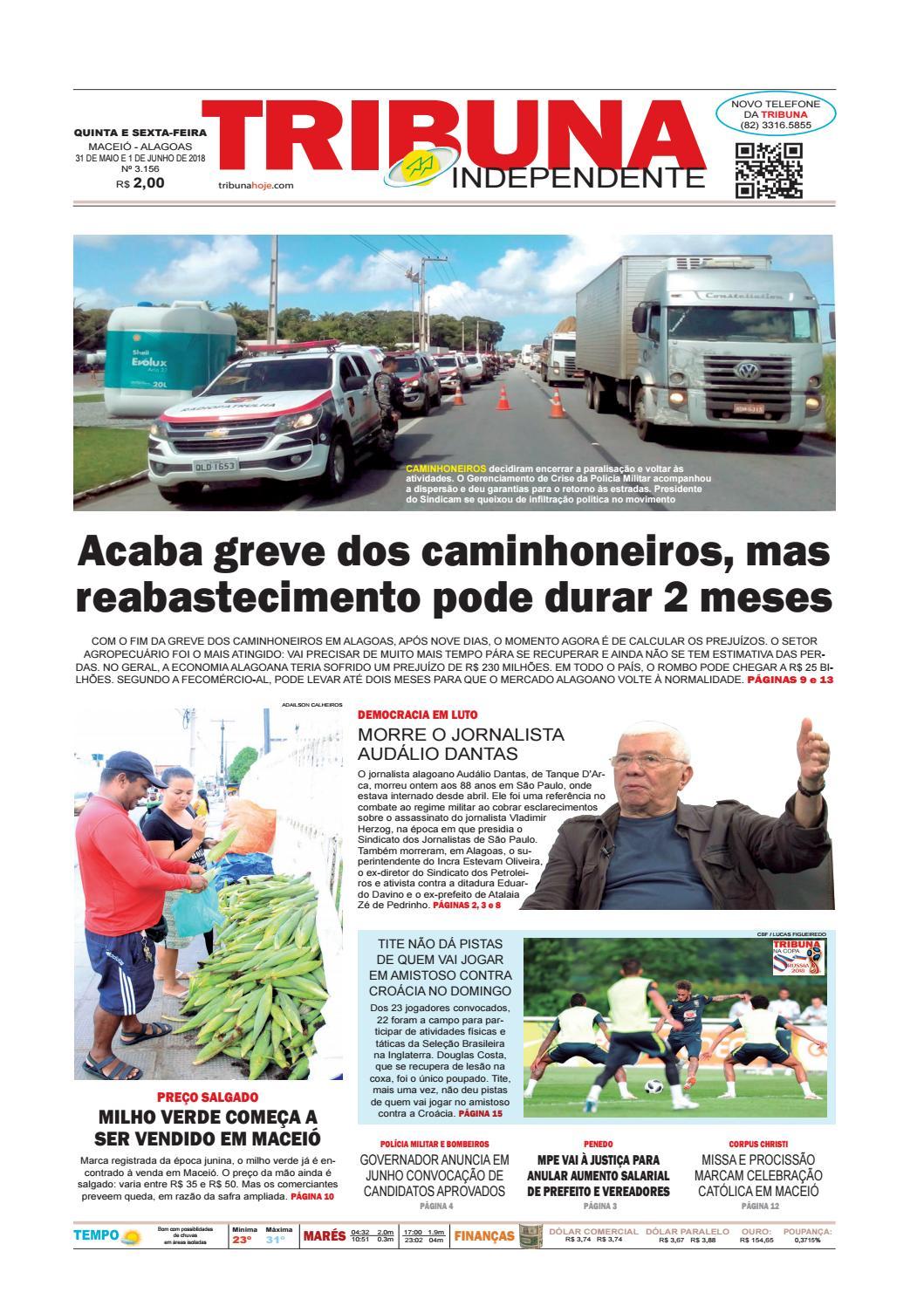 1a6759c66c9 Edição número 3156 - 31 de maio e 1 de junho de 2018 by Tribuna Hoje - issuu