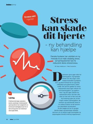 Page 18 of Stress kan skade dit hjerte