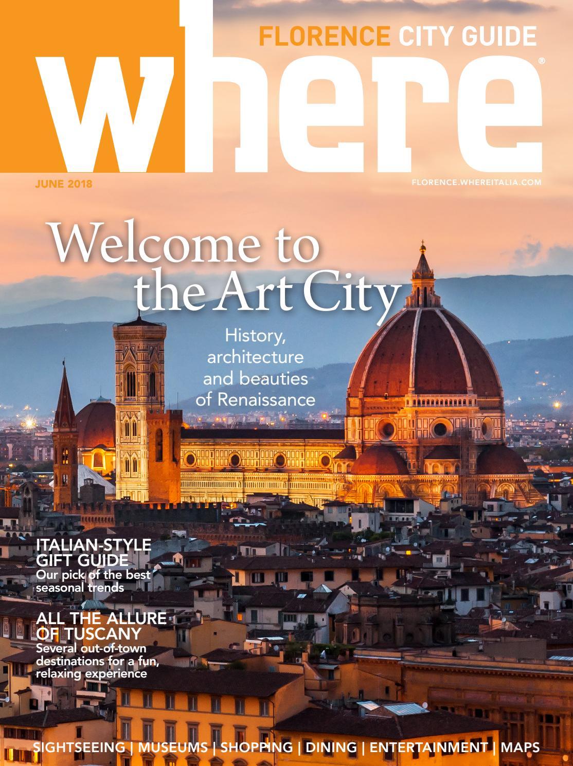Where Florence n 1 June 2018 by Where Italia issuu