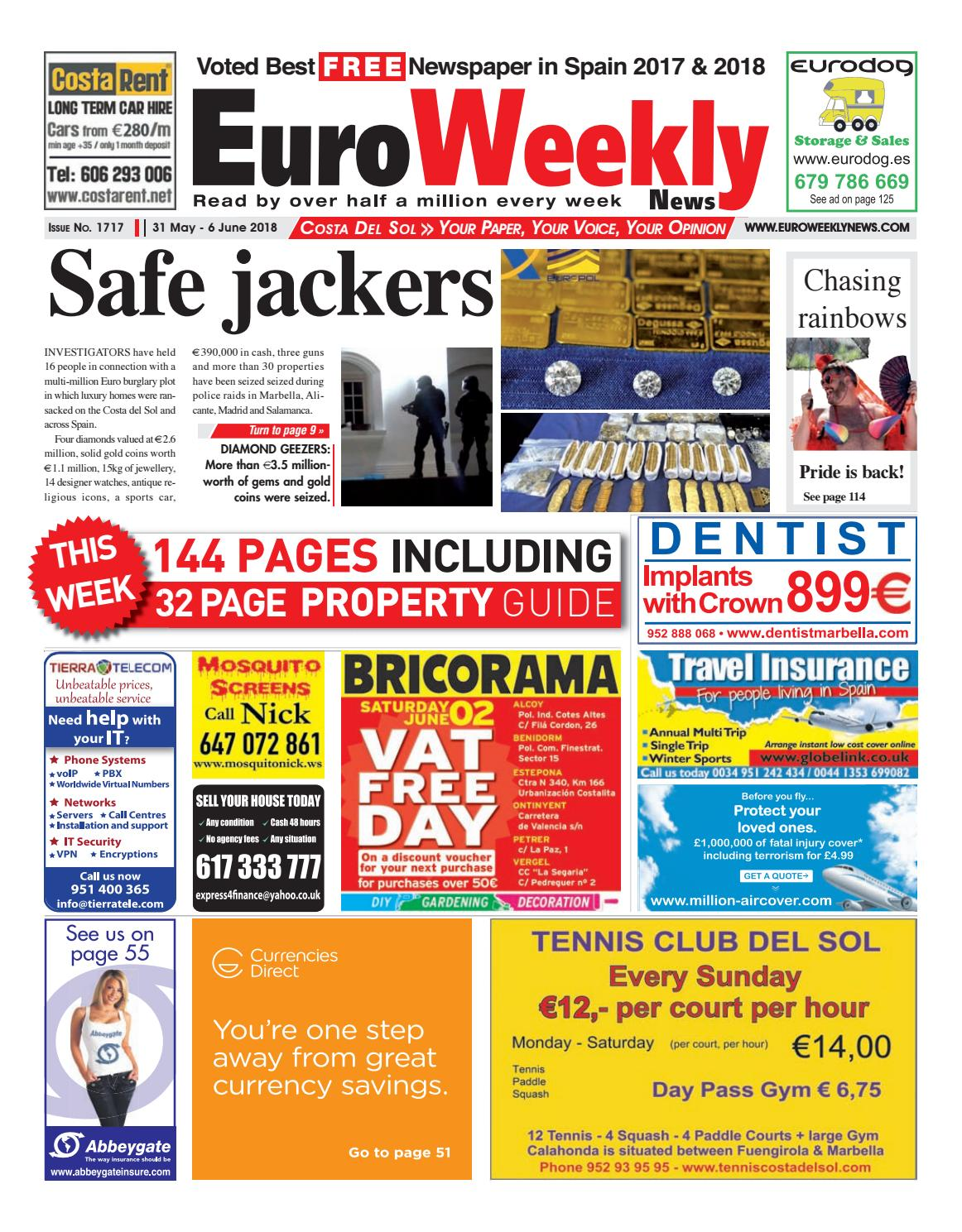 Euro Weekly News - Costa del Sol 31 May - 6 June 2018 Issue 1717 by