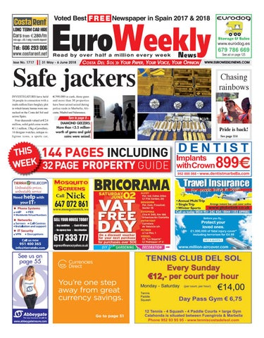 Euro Weekly News - Costa del Sol 31 May - 6 June 2018 Issue 1717 by ... 325393d72a8b