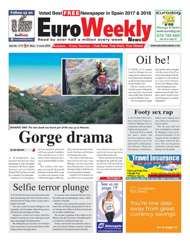 Euro Weekly News - Axarquia 31 May - 6 June 2018 Issue 1717 by Euro ... 0fb9adc0dbff