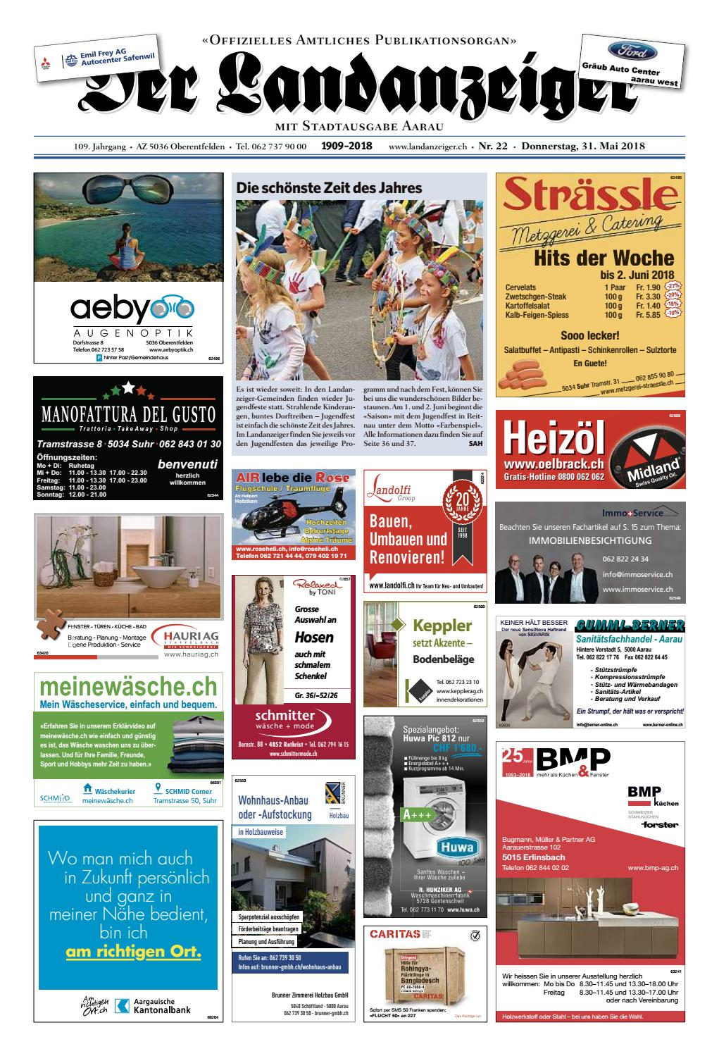 5c42a86407 Der Landanzeiger 22 18 by ZT Medien AG - issuu