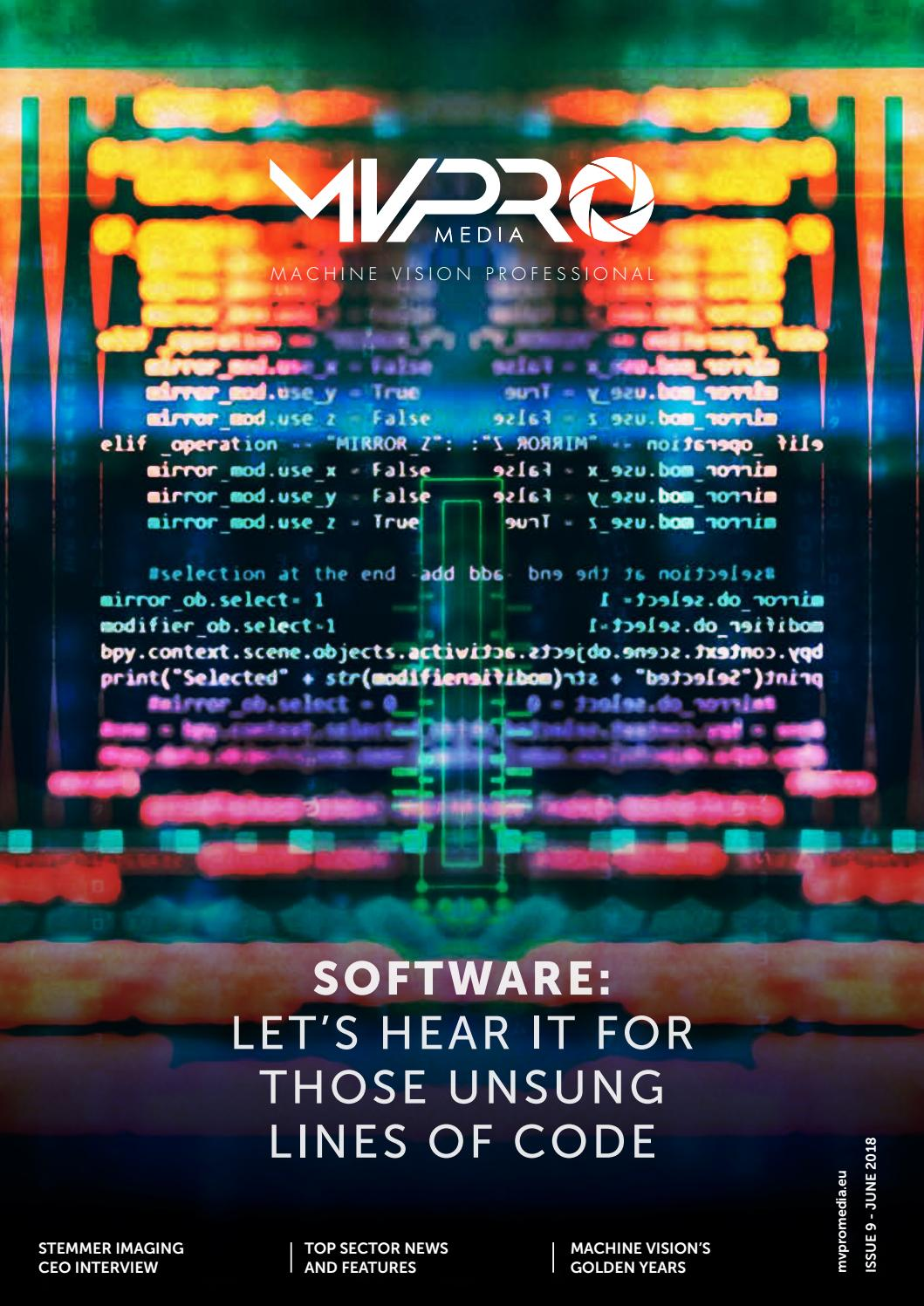Machine Vision Software | MVPro 09 | June 2018 by Clifton Media Lab