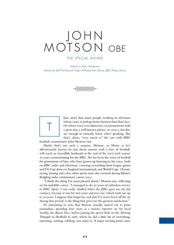 Page 44 of The Special Award: John Motson interview feature
