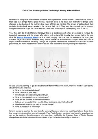 Best Facial Plastic Surgery In USA by Pure Plastic Surgery - issuu