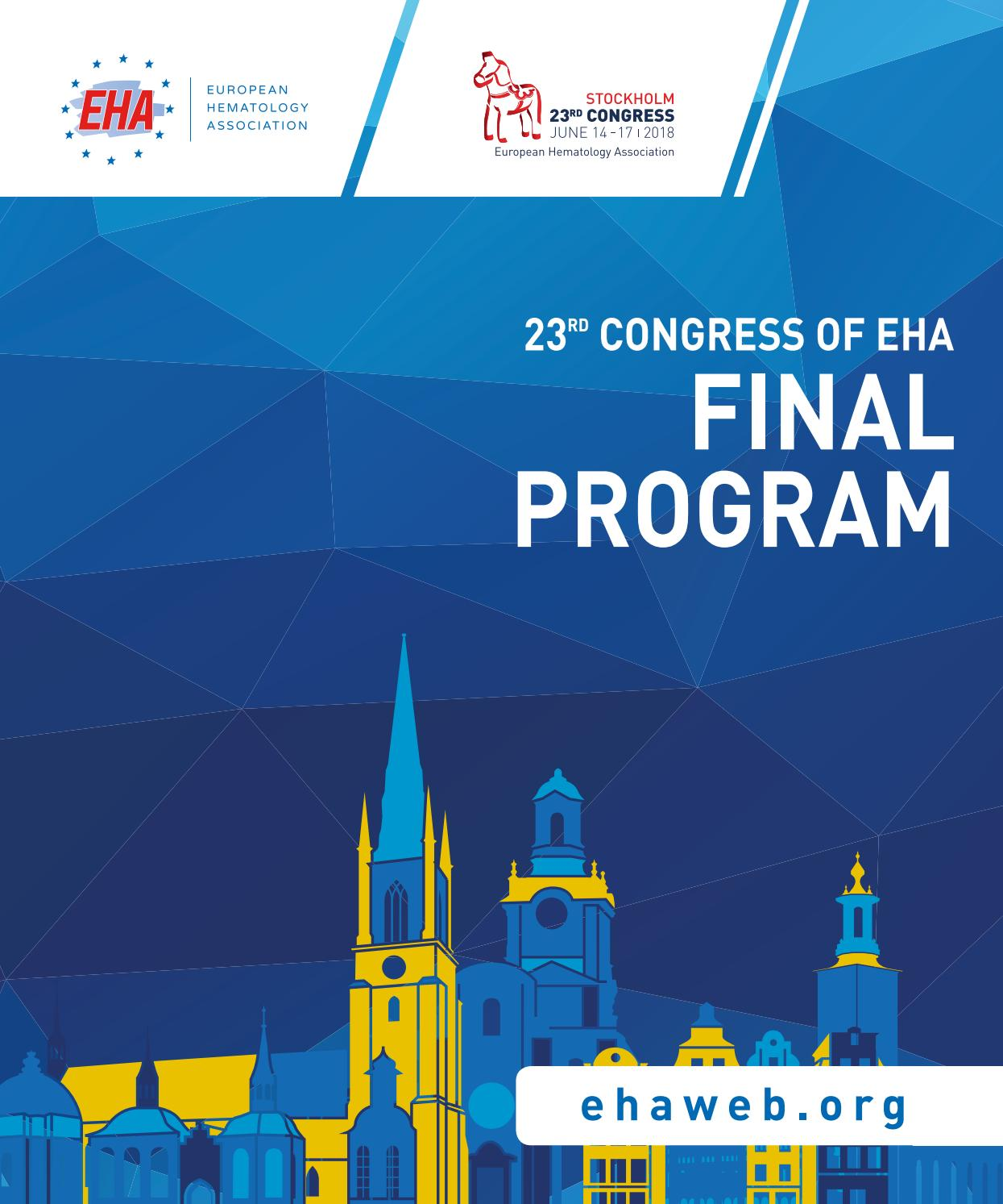 23rd Congress of EHA Final Program by Loyals - issuu