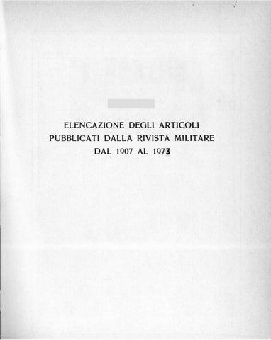Indice di Rivista Militare dal 1907 al 1973 by Biblioteca Militare ... 93ef7f403358
