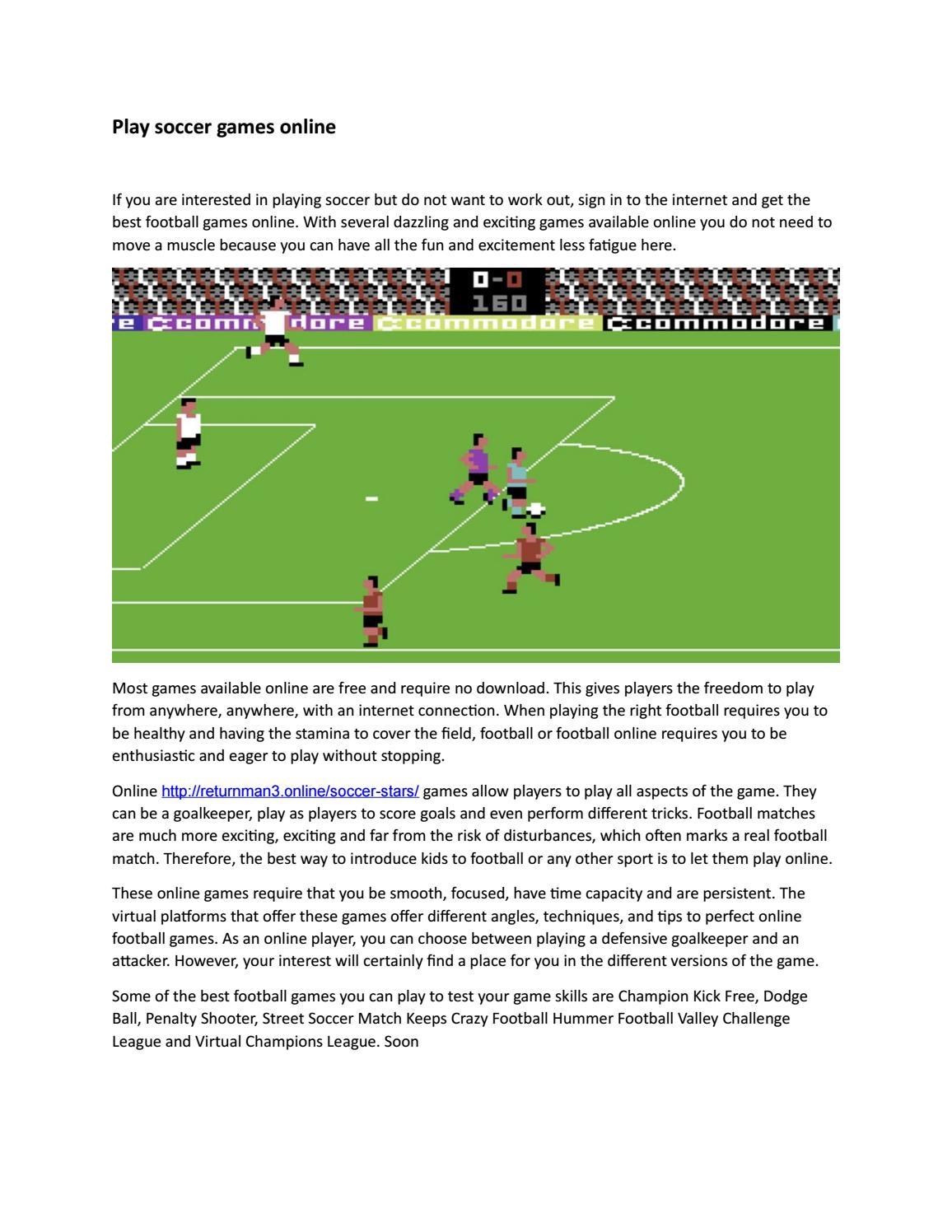Awesome Football Internet Games @KoolGadgetz.com
