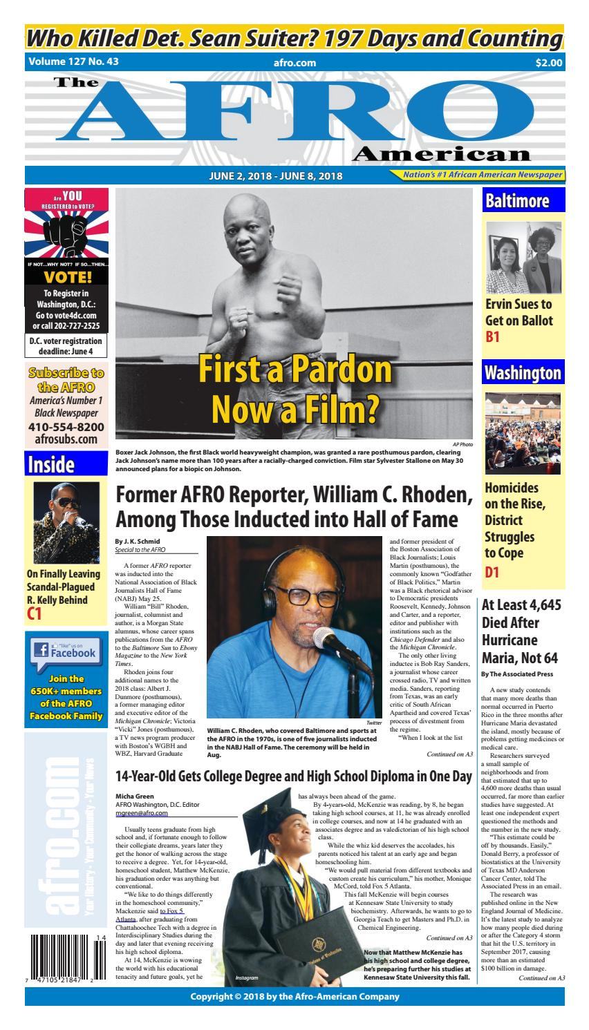 Baltimore Washington 6-1-2018 by The AFRO American - issuu