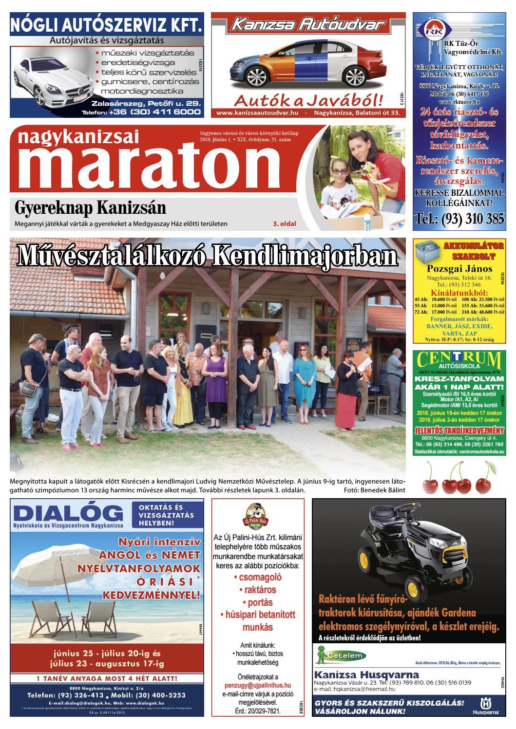Nagykanizsai Maraton - 2018. 06. 01. by Maraton Lapcsoport Kft. - issuu 04cde6212a