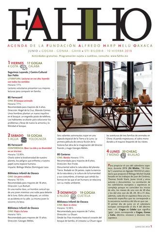 Agenda de junio 2018 FAHHO by Fundación Alfredo Harp Helú Oaxaca - issuu