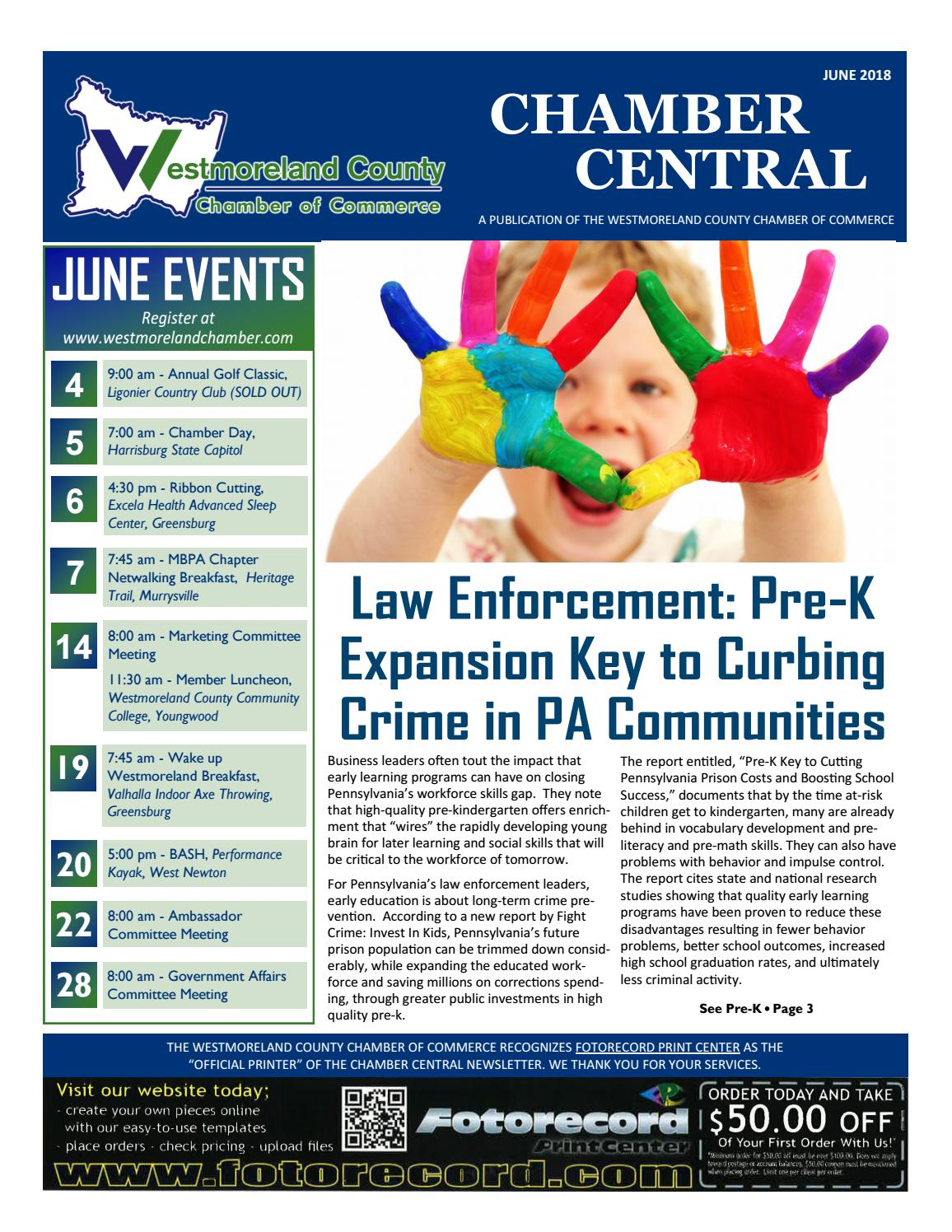 Chamber Central June 2018 by Westmoreland County Chamber of Commerce