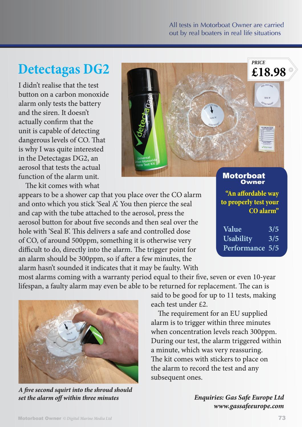 Detectagas universal carbon monoxide test kit
