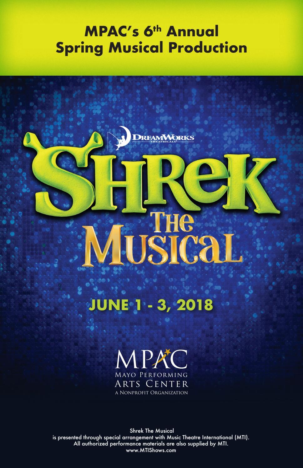 Shrek Program Book By Mayo Performing Arts Center Issuu