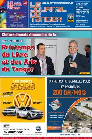 cdb17688b5607 Le journal de Tanger 21 avril 2018 by Le Journal de Tanger - issuu