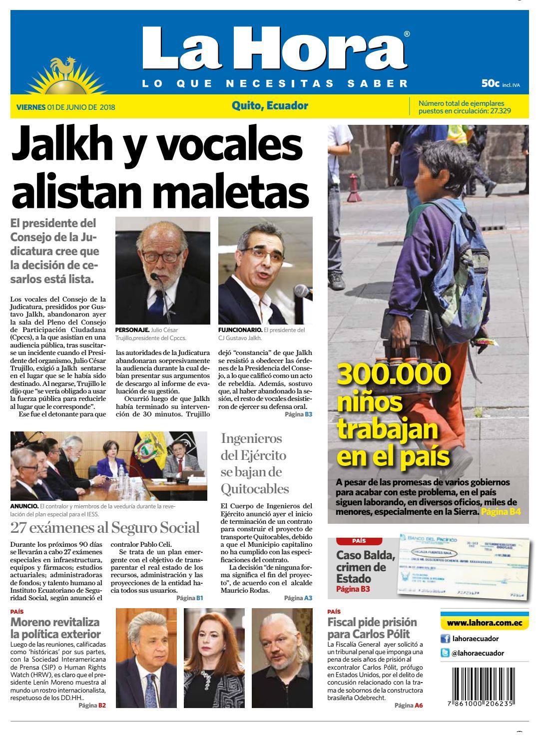 Quito 01 de junio de 2018 by Diario La Hora Ecuador - issuu