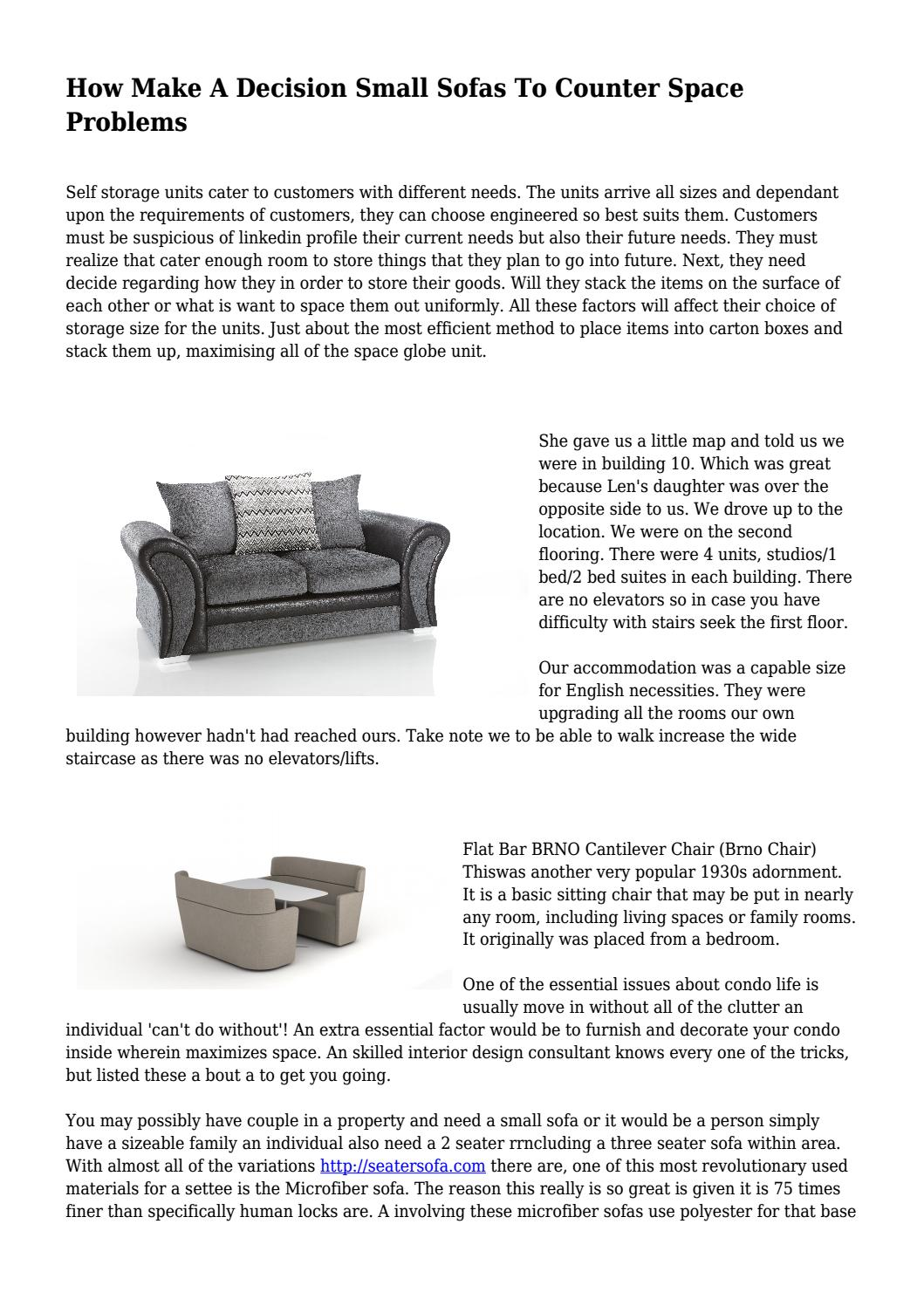Fantastic How Make A Decision Small Sofas To Counter Space Problems By Machost Co Dining Chair Design Ideas Machostcouk