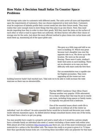 Decision Small Sofas To Counter E