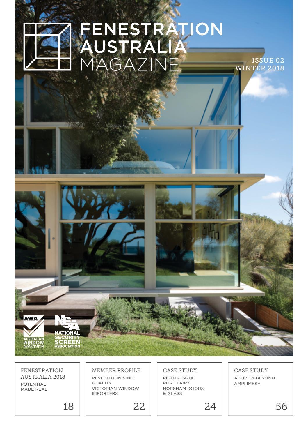 Fenestration Australia Magazine Issue 02 Winter 2018 by