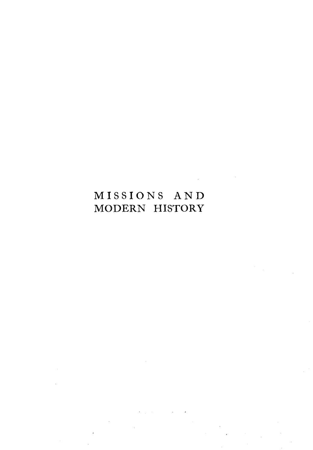 Robert E  Speer, Missions and Modern History, Volume 1