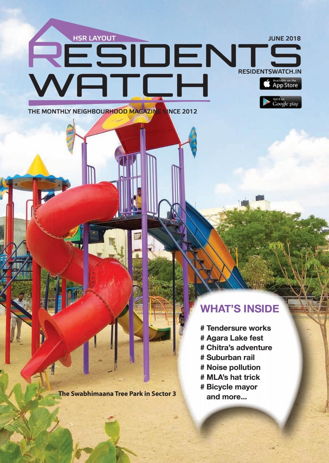 HSR Layout Residents Watch - May 2018 by Residents Watch - issuu