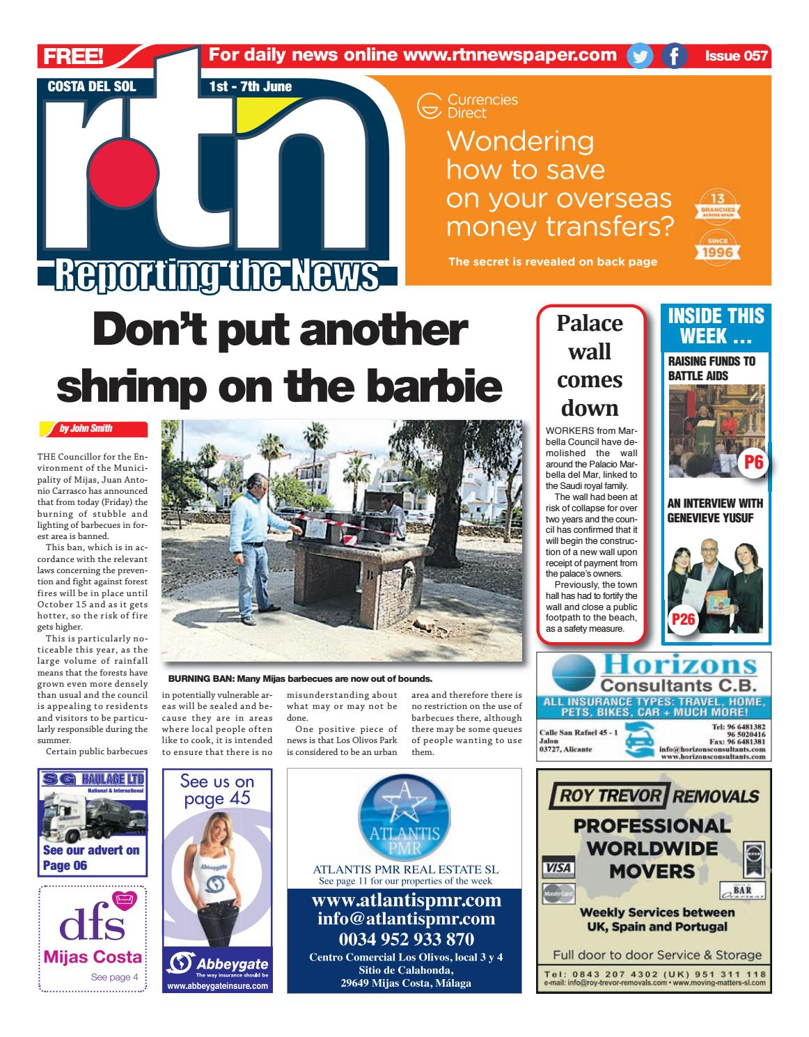 Rtn Newspaper Costa Del Sol 1 7 June 2018 Issue 057 By