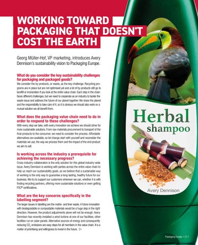 Page 23 of WORKING TOWARD PACKAGING THAT DOESN'T COST THE EARTH