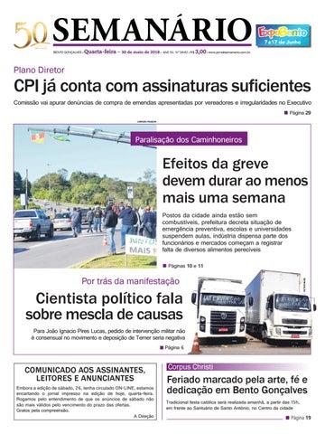3e2113fdafebb Jornal Semanário – 30 de maio de 2018 – Ano 51 – Nº 3442 by Jornal ...
