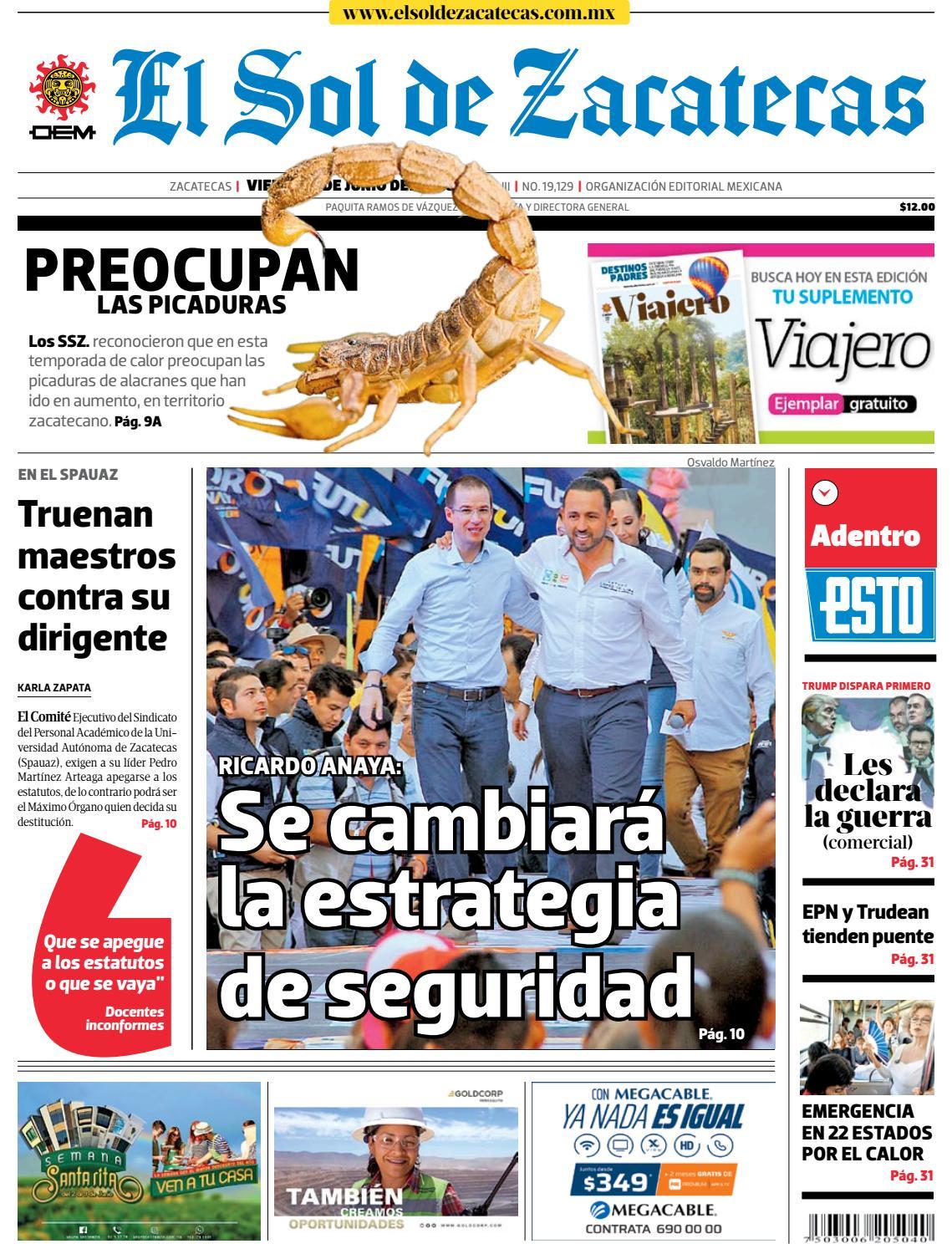 El Sol de Zacatecas 1 de junio de 2018 by El Sol de Zacatecas - issuu 4dbd4b0b6f80e