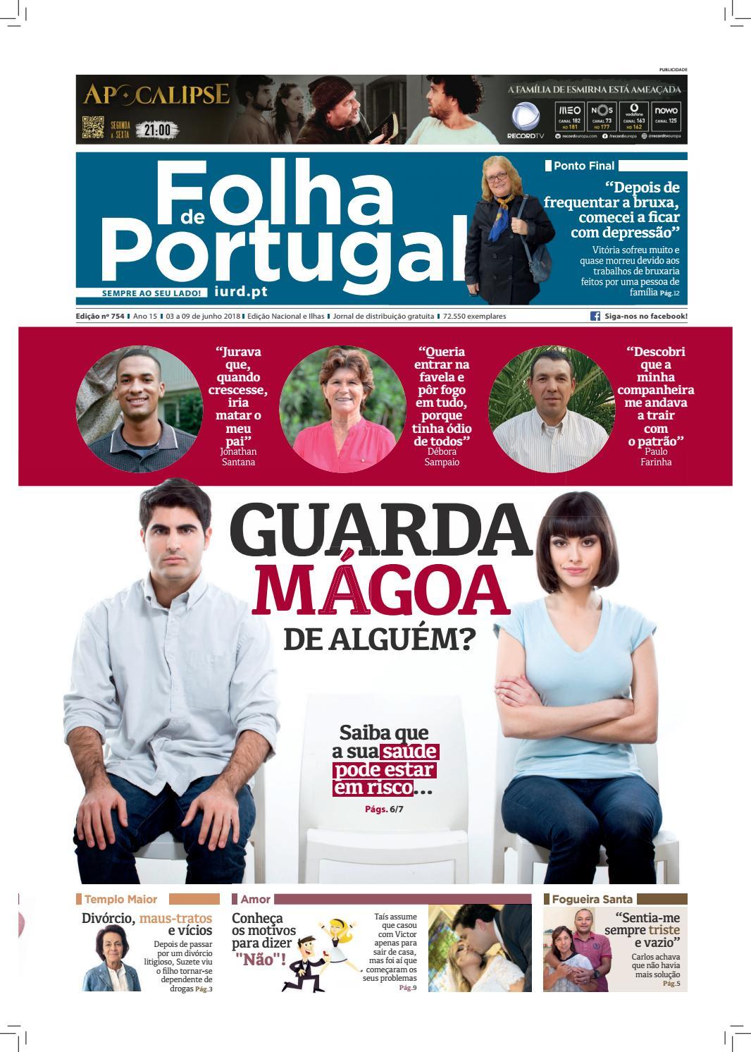Folha De Portugal Edição 754 By Igreja Universal Issuu