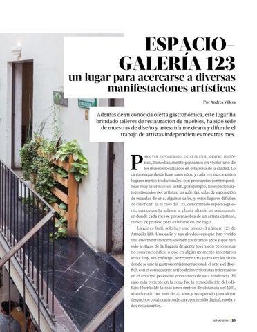Page 27 of ESPACIO-GALERÍA 123: un lugar para acercarse a diversas manifestaciones artísticas