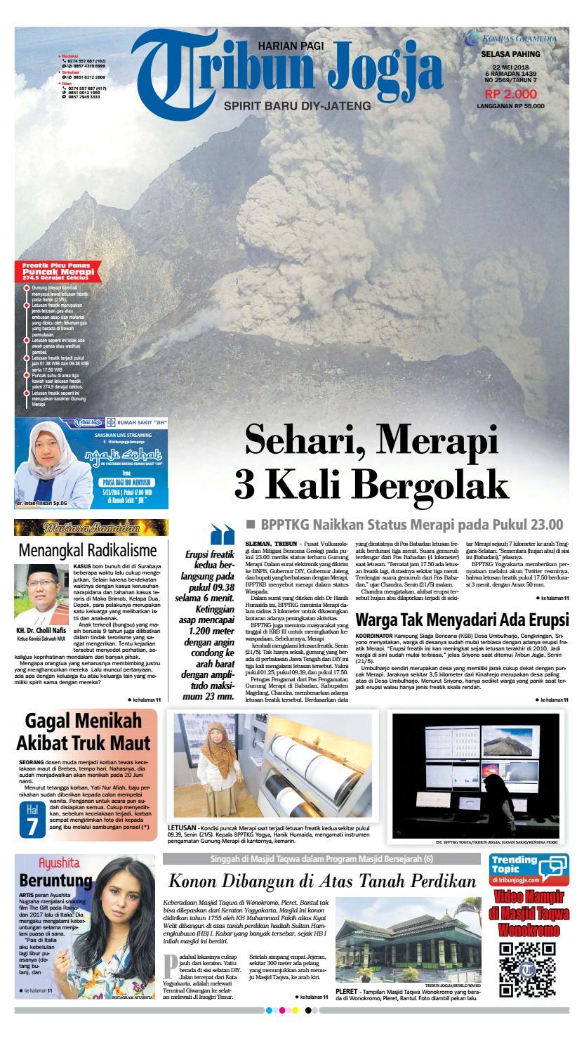 Tribunjogja 22 05 2018 By Tribun Jogja Issuu Produk Ukm Bumn Kain Batik Middle Premium 3 Bendera 01
