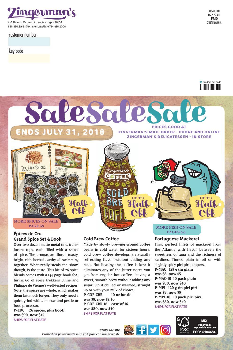 Zingerman's Summer Sale Catalog 2018 by Zingerman's Mail