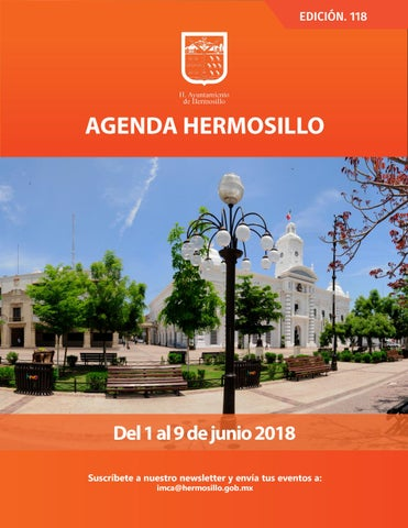 "Cover of ""Agenda Hermosillo 1jun2018"""