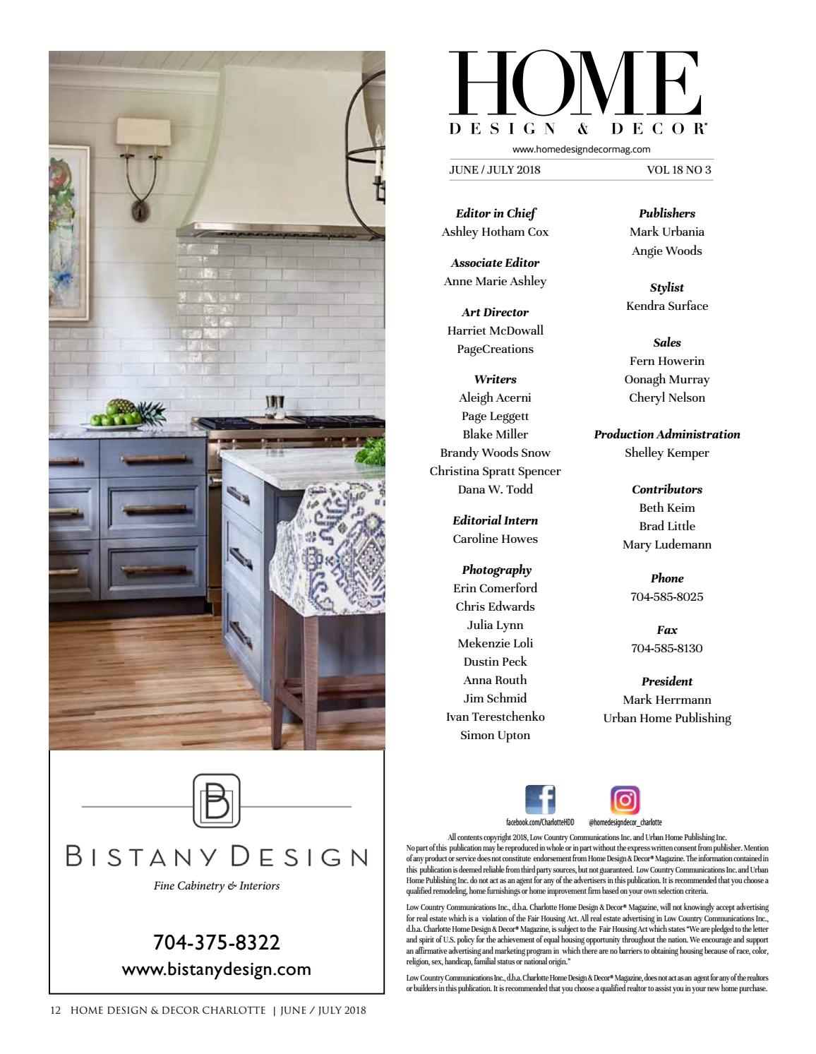 Chlt June July 2018 By Home Design U0026 Decor Magazine   Issuu